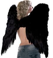 ailes de démon, ailes plumes noires déguisements, ailes d'ange noir, ailes de démons plumes noires Ailes d'Ange en Plumes Noires