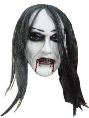 masque de déguisement, accessoire masque déguisement, accessoire masque halloween, accessoire déguisement halloween, masque horreur halloween, accessoire masque horreur, masque latex déguisement, masque de zombie, masque effrayant halloween, masque de monstre halloween Masque White Zombie Fantôme, Cheveux Noirs