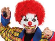 masque de déguisement, accessoire masque déguisement, accessoire masque halloween, accessoire déguisement halloween, masque clown halloween, accessoire masque clown horreur, masque latex déguisement, masque clown diabolique, masque clown halloween, masque clown maléfique Demi Masque de Clown Dents Pointues