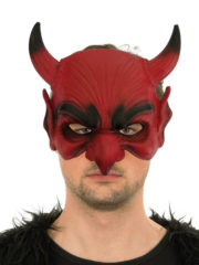 masque de diable halloween, masque diable, cornes de diables, masques halloween Demi Masque de Diable, Lucifer