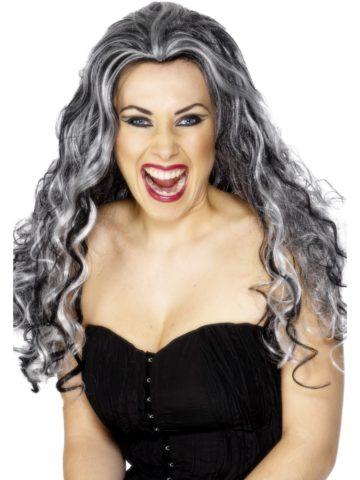 perruque pour femme, acheter perruque femme à paris, perruque de déguisement, perruque pas cher, perruque ondulée, perruque Halloween, perruque sorcière, perruque noire et blanche Perruque Renaissance Vamp, Grise