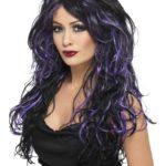 perruque pour femme, acheter perruque femme à paris, perruque de déguisement, perruque pas cher, perruque ondulée, perruque Halloween, perruque sorcière, perruque noire et violette Perruque Gothic Bride, Noire et Violette