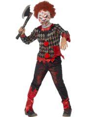 déguisement clown effrayant garçon, déguisement clown halloween garçon, costume clown halloween garçon, déguisement garçon halloween, déguisement clown sinistre halloween garçon Déguisement de Clown Zombie + Masque, Garçon