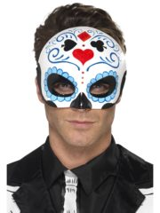 masque squelette mexicain, masque de déguisement, masque mexicain halloween, masque déguisement halloween, accessoire déguisement halloween masque, masque en papier maché, masque dia de la muerte, masque halloween jour des morts, déguisement jour des morts halloween, masque jour des morts Loup Mexicain, Jour des Morts