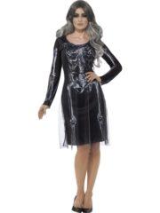 déguisement squelette halloween femme, robe squelette halloween femme, costume femme halloween, robe halloween squelette, déguisement squelette femme halloween Déguisement Squelette Lady, avec Voile