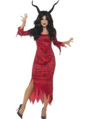 déguisement démon femme, déguisement diable femme, costume diable femme, déguisement diable occulte halloween, déguisement forces occultes halloween, robe halloween femme Déguisement Sorcière Occulte