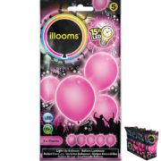 ballons à led, ballons lumineux, ballons fluos, ballons de baudruche, ballons hélium, ballons anniversaires, ballons lumineux Ballon à LED, Rose, X 5