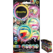 ballons à led, ballons lumineux, ballons fluos, ballons de baudruche, ballons hélium, ballons anniversaires, ballons lumineux Ballon à LED, Marbrés, x 5