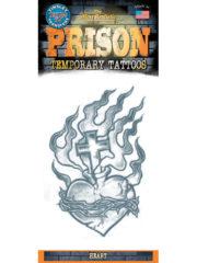 tatouage temporaire, faux tatouage, faux tatouage déguisement, faux tatouage halloween, maquillage halloween, faux tatouage blessures, faux tatouages effets spéciaux déguisement, tatouage serpent Tatouage Temporaire, Coeur Enflammé Croix