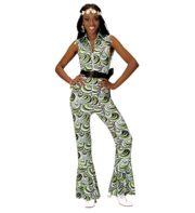 déguisement disco, combinaison disco, déguisement années 70, combinaison pattes d'éléphant, combinaison années 70 déguisement, costume disco femme, combinaison pattes d'eph femme, combinaison disco Déguisement Disco, Combinaison Groovy Waves