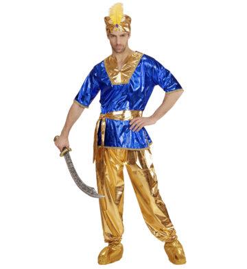 déguisement de sultan oriental, déguisement bollywood, déguisement oriental homme, déguisement oriental adulte, déguisement aladin Déguisement de Sultan, Or et Bleu