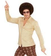 déguisement disco homme, déguisement années 70 femme, chemise disco homme déguisement, déguisement disco homme pas cher, déguisement disco paris, chemise disco pour homme déguisement Déguisement Disco, Chemise Groovy 70, Beige