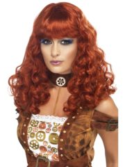 perruque steampunk, perruque rousse, perruque femme paris, perruque rousse pour femme, perruque cyberpunk, perruque steampunk Perruque Steampunk, Rousse