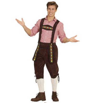 déguisement bavarois homme, costume bavarois homme, déguisement tyrolien homme, costume tyrolien homme, salopette bavaroise déguisement, déguisement homme, déguisement fête de la bière, déguisement oktoberferst Déguisement Bavarois, Salopette Marron