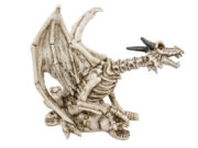 décoration halloween, décoration dragon game of throne, accessoire daenerys dragon, décorations halloween squelette Décoration Dragon Effrayant, Squelette en Résine
