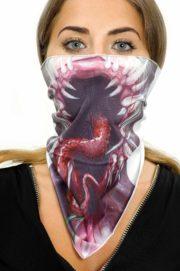 bandana halloween, foulard halloween, accessoire alien zombie, foulards pour halloween Foulard Halloween Alien Zombie