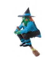 pinata sorcière, pinata halloween, sorcière décoration pinata, pinata de sorcière Pinata Sorcière sur son Balai