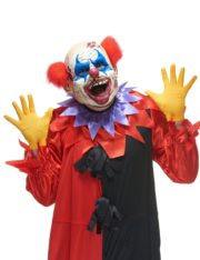 masque de clown effrayant, masque clown halloween, masque clown tueur, masque clown latex halloween, masque de clown Masque de Clown des Ténèbres, Halloween