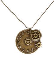 collier steampunk, accessoire steampunk, accessoire halloween, bijoux steampunk Collier Steampunk, Médaille Rouages sur Chaine
