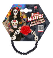bracelet jour des morts, bijoux jour des morts mexicains, bijoux dia de los muertos, accessoire jour des morts, accessoire mort mexicaine Bracelet Jour des Morts Mexicain