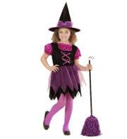 déguisement de sorcière enfant, déguisement halloween fille, déguisement halloween enfant, déguisement sorcière halloween enfant, déguisement sorcière halloween fille, costume halloween enfant, costume sorcière fille Déguisement de Sorcière Tulle Rose, Fille