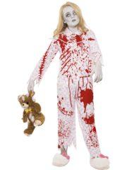 déguisement halloween fille, déguisement pyjama ensanglanté fille, costume halloween enfant, costume pyjama zombie fille halloween Déguisement de Pyjama Zombie Ensanglanté, Fille