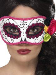 masque squelette mexicain, masque de déguisement, masque mexicain halloween, masque déguisement halloween, accessoire déguisement halloween masque, masque dia de los muertos, masque dia de la muerte, masque halloween, masque halloween day of death, jour des morts mexicain, masque jour de morts adulte, masque halloween femme Loup Jour des Morts, avec Fleurs