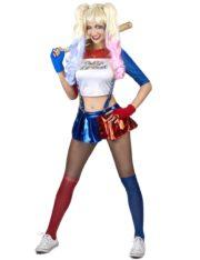 déguisement harley quinn, déguisement arlequinne, déguisement halloween femme, déguisement cinéma femme, déguisement harleyquinn Déguisement Arlequine Diabolique