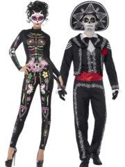 déguisement couple day of death, déguisement dia de la merge, déguisement mort mexicaine, déguisement dios de los muertos, déguisement halloween couple Jour des Morts Mexicains, Day of Death