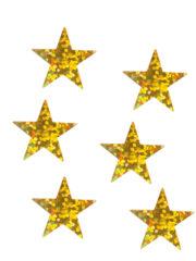 décorations de noël, décos de noël, décorations de réveillon, confettis de table, confettis étoiles Confettis de Table, Etoiles Hologrammes Or