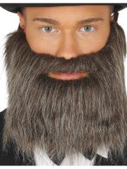 fausse barbe, fausses moustaches, postiche, barbe postiche, fausse barbe de déguisement, postiches barbes Barbe Châtain, Lisse, avec Moustache