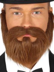 fausse barbe, fausses moustaches, postiche, barbe postiche, fausse barbe de déguisement, postiches barbes Barbe Rousse, Lisse, avec Moustache