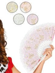 éventail en dentelle, éventail de marquise, éventail en tissu, accessoire déguisement marquise, éventail espagnol Eventail en Dentelles, Fleurs et Paillettes