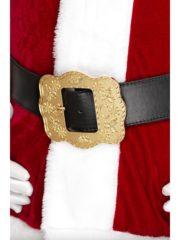 ceinture de père noël, accessoire costume père noël, accessoire déguisement père noël, grosse ceinture père noël Ceinture de Père Noël, Luxe, Boucle XL Dorée