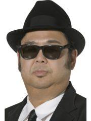 chapeau blues brothers, chapeau noir blues brothers, chapeau borsalino, chapeau rock noir, chapeau de blues brothers, chapeau noir borsalino Chapeau Blues Brothers, Noir