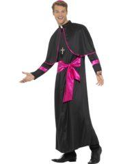 déguisement de cardinal pour homme, costume cardinal adulte, déguisement religion adulte, déguisement de cardinal, costume cardinal adulte Déguisement Cardinal, Noir et Rose Fuchsia