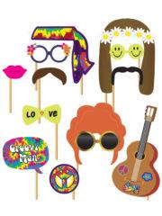 kit photo Booth, photobooths hippies, photo booth hippie, accessoires pour photos, accessoire déguisement photos, accessoires déguisements, photobooths, photo booth, photobooths pour photos Kit Photo Booth, Accessoires Hippies