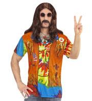 tea shirt de hippie, accessoire hippie déguisement, T-shirt 3D de hippie, T-shirt imprimé hippie, déguisement de hippie, accessoire hippie déguisement, gilet de hippie Déguisement Hippie, Tshirt Imprimé 3D