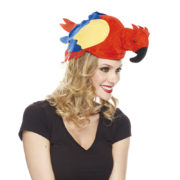 chapeaux animaux, chapeau perroquet, chapeaux hawaï, chapeau humoristique, chapeaux animaux, accessoire déguisement perroquet Chapeau de Perroquet