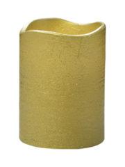 bougie led dorée, bougie led or, bougies de noël, bougie led, bougies à led, fausse bougie, décorations de noël, bougies lumineuses à led Bougie à LED Vague, Or, 10 cm