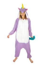 kigurumi, déguisement kigurumi, kigurumi licorne rose, pyjama kigurumi, pyjama licorne rose, déguisement kigurumi licorne Déguisement Kigurumi Licorne, Violette, Queue Multicolore