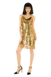 déguisement disco robe paillettes, déguisement robe paillettes dorées disco, costume paillettes femme, déguisement disco paillettes femme, robe dorée femme Déguisement Disco ou Charleston, Doré à Paillettes