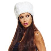 toque russe, chapeau russe, accessoire russe déguisement, chapka russe déguisement, chapeau fausse fourrure Chapeau Toque Russe, Fausse Fourrure Blanche