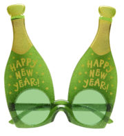 lunettes déguisement, lunettes bouteilles, lunettes réveillon, lunettes happy new year, accessoires nouvel an, accessoire réveillons nouvel an, lunettes drôles, lunettes humoristiques, lunettes humour Lunettes Champagne, Happy New Year