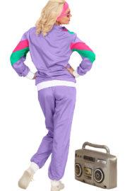 déguisement années 80 femme, déguisement survet disco, déguisement véronique et davina, déguisement années 80 femme, déguisement années jogging années 80, déguisement pour soirée années 80 Déguisement Années 80, Shell Suit Violet, Femme