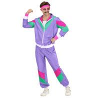 déguisement années 80 homme, déguisement survet disco, déguisement beauf, déguisement années 80 homme, déguisement années 90 homme, déguisement ringard homme, déguisement jogging homme années 80 Déguisement Années 80, Shell Suit Violet