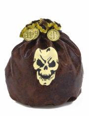bourse de pirate, pièces de pirates, fausses pièces d'or, accessoire déguisement pirate, accessoire pirates, fausse bourse de pirate déguisement Bourse de Pirate, Faux Cuir Vieilli