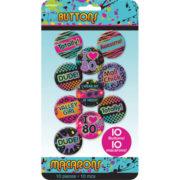 badges années 80, pins années 80, accessoires années 80, accessoires disco, badges disco Badges Disco Fever, Totally Années 80