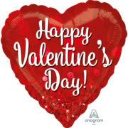 ballon coeur, ballon saint valentin, ballon hélium, ballon coeur saint valentin, ballon coeur rouge, ballon mylar, ballon à l'hélium, décoration saint valentin Ballon Aluminium, Coeur Rouge Saint Valentin