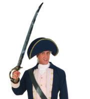 fausse épée, épée acier vieilli déguisement, épée de déguisement, épée de pirate, épée de lieutenant, épée napoléon, fausse épée, accessoire déguisement, épée de déguisement, épée d'officier Epée d'Officier, Acier Vieilli, 101 cm